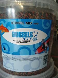 Bubbels vijverkorrel mix 3 mm
